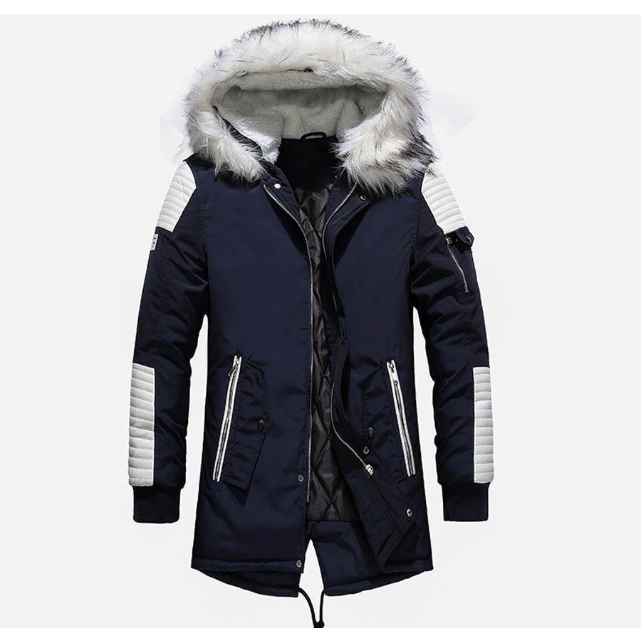 Новые мужские зимние длинные парки 2020 с толстым капюшоном и меховым воротником, мужские пальто, повседневные хлопковые куртки, Мужская тепл...