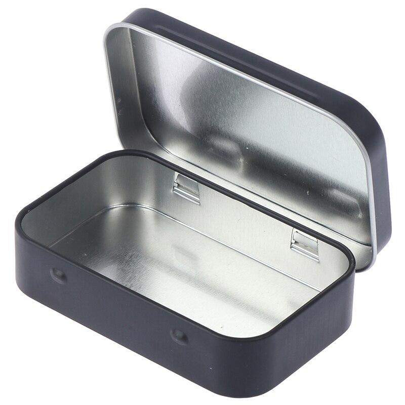 Caixa de armazenamento de cigarro, caixa preta para armazenar tabaco, umidor, rolar papel, caixa de jóias, chaveiro de doces, organizador de lata, presentes selados