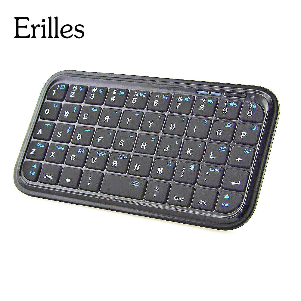 Mini teclado sem fio recarregável bluetooth para iphone 6 6s plus ipad samsung galaxy s4 s5 s6 nota 5 android windows tablet