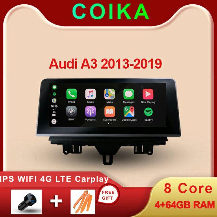 8 receptor do carro gps navi do sistema de android do núcleo para audi a3 2013-2020 4 + 64gb ram wifi 4g lte carpaly bt ips tela multimídia estéreo