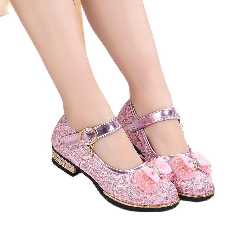 الصيف الفتيات أحذية حبة ماري جينس الشقق Fling الأميرة أحذية الرقص أحذية أطفال صنادل أطفال أحذية الزفاف الذهب الوردي