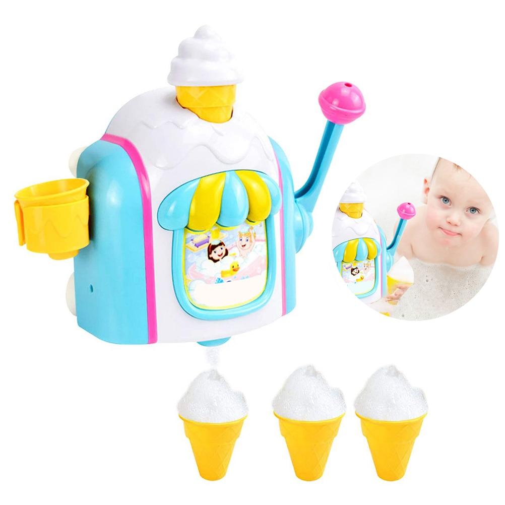 Nuevo fabricante de helados, máquina de burbujas, juguetes de baño, fábrica de divertidos conos de espuma, juguete para bañera, regalo para recién nacidos, juguetes de baño para Niños #20