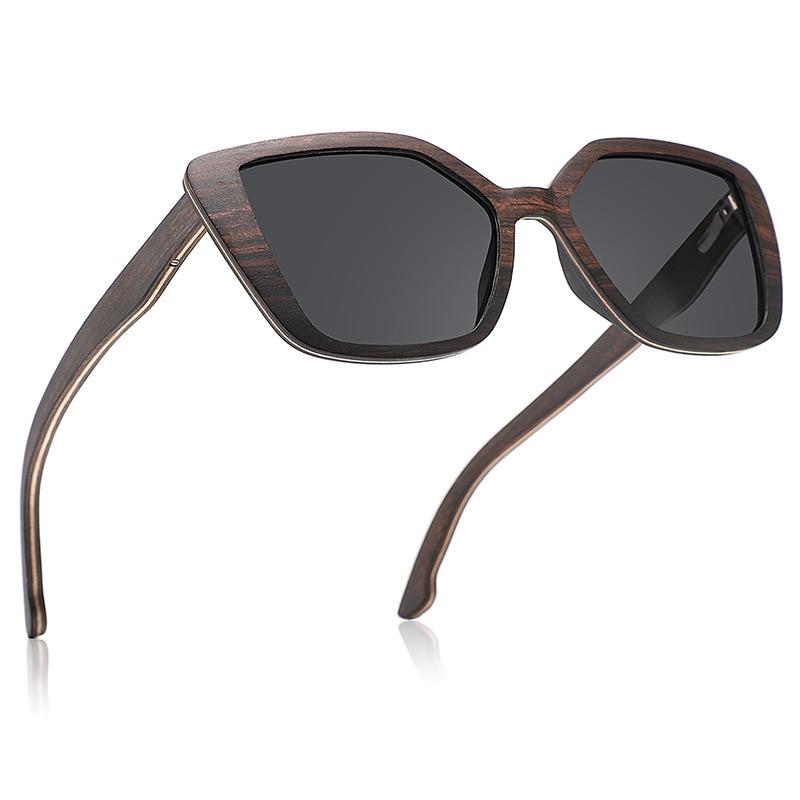 خشب الأبنوس مصمم النظارات الشمسية للرجال النساء 2021 الفاخرة مربع المتضخم ظلال Steampunk عدسات قطبية UV400
