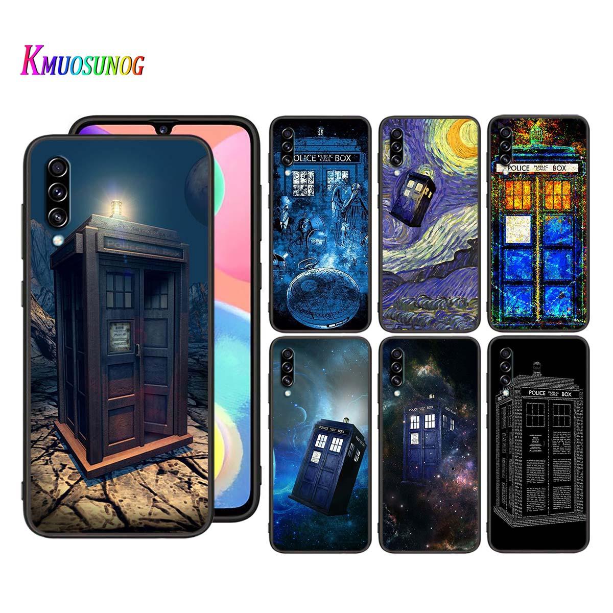Caixa Tardis Doctor Who para Samsung Galaxy A90 5G A80 A70S A70 A60 A50S A40 A30 A20E A20 A20S A10S A10 Caso de Telefone Preto