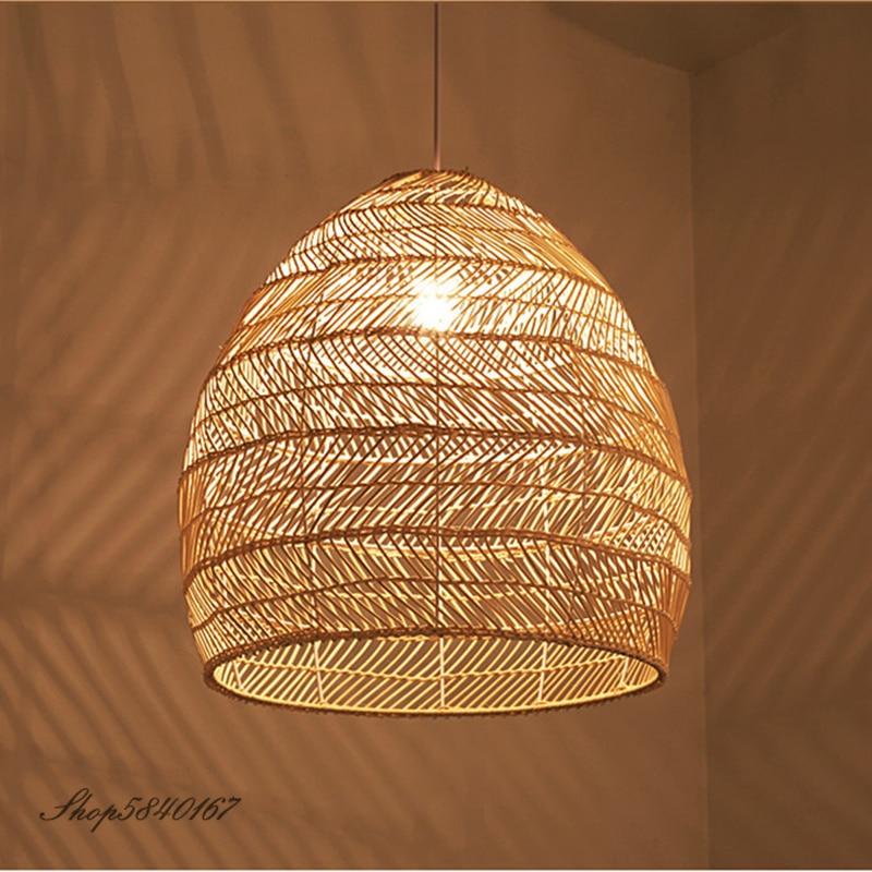 مصباح معلق من الروطان على الطراز الصيني ، تصميم جديد ، إضاءة زخرفية داخلية ، مثالي للمطبخ أو غرفة المعيشة أو غرفة الطعام.