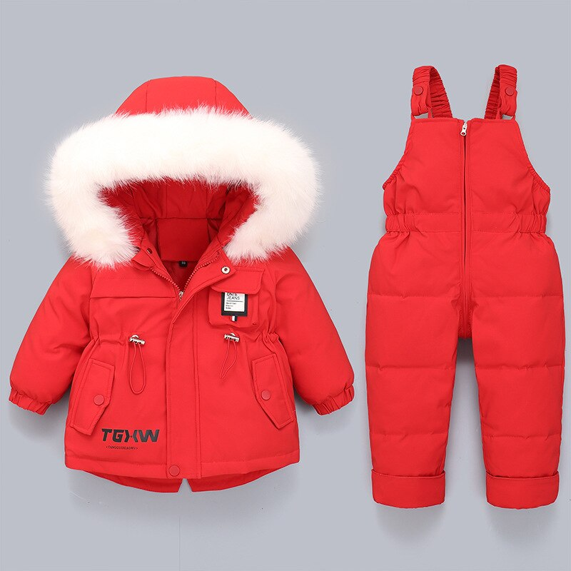 Children's Down Jacket Suits for Boys and Girls, Infants and Toddlers 1-4 Years Old Thick White Duck Down Winter Jacket enlarge