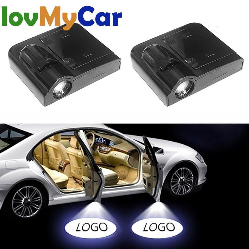 2 шт. подсветка двери автомобиля с логотипом Добро пожаловать лампа лазерный свет DC 5V Универсальный беспроводной проектор свет атмосфера автомобиля свет автомобильные аксессуары