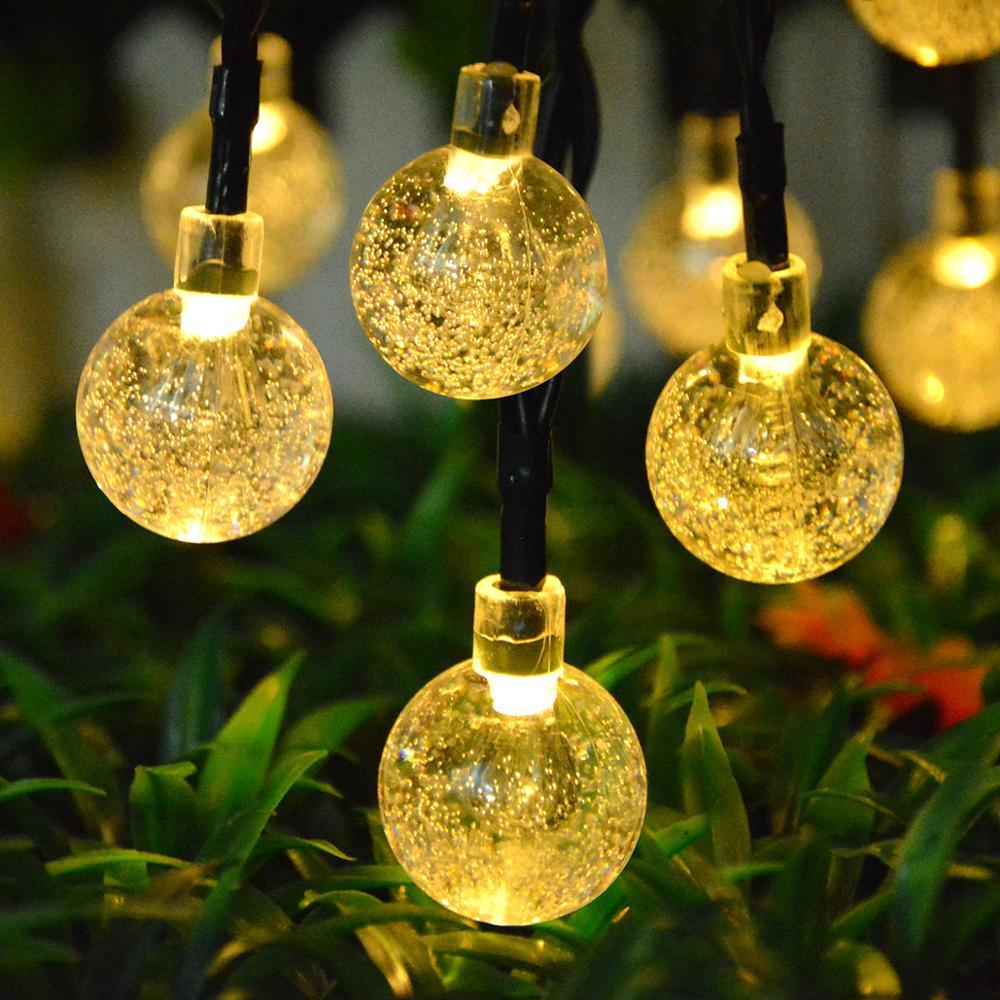 Lámpara de jardín LED alimentada por energía Solar, luz Solar de Hada para exteriores, cadena de luces de decoración para jardín, calle, césped, iluminación al aire libre