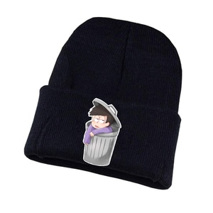 Osomatsu-san Knitted hat Cosplay hat Unisex Print Adult Casual Cotton hat teenagers winter Knitted Cap