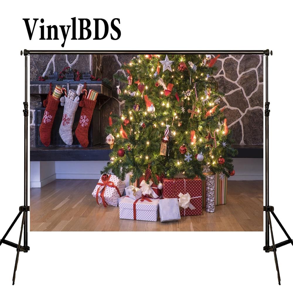 VinylBDS-Fondo De fotografía De 10x10 pies, Fondo De Navidad, árbol De Navidad,...