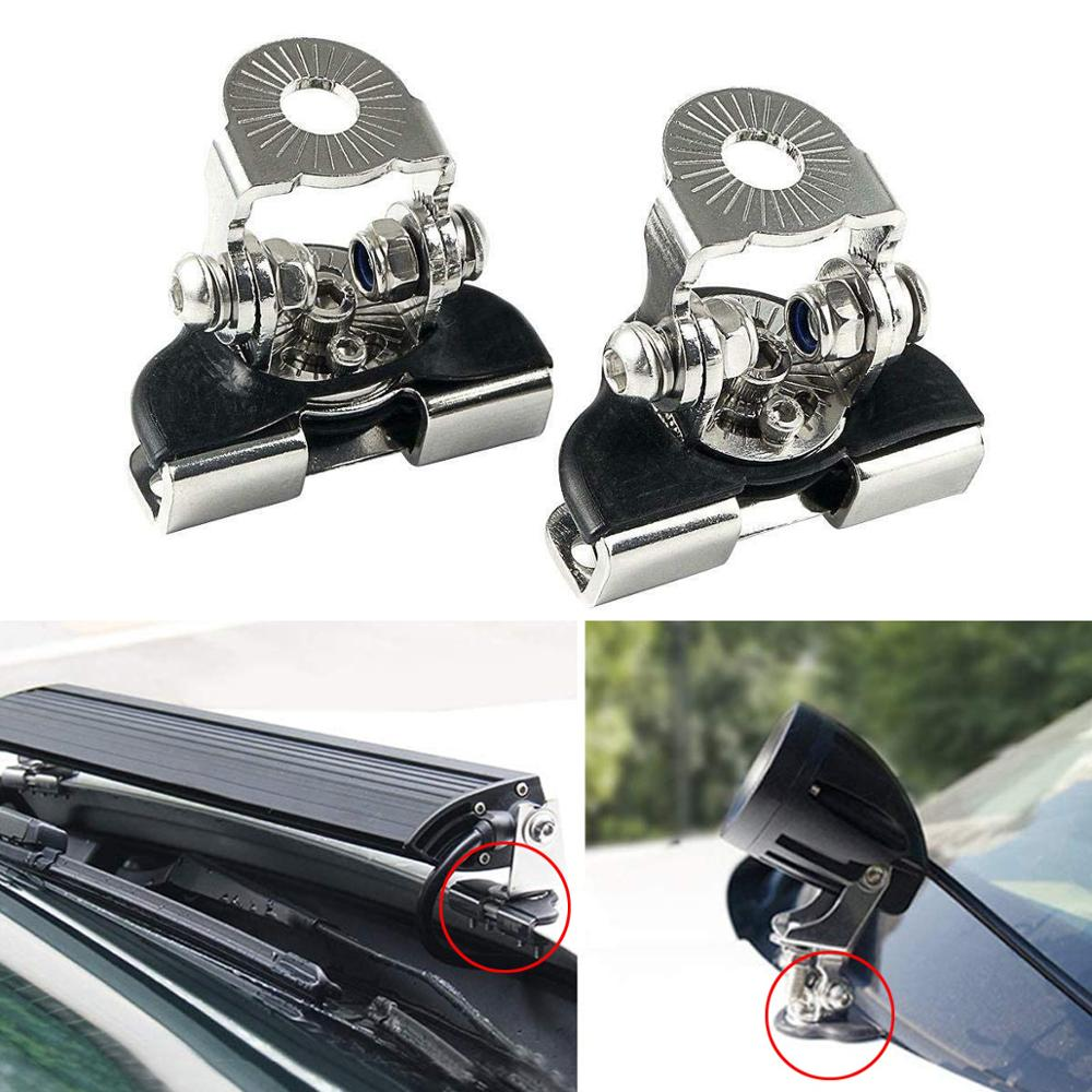 1pair Auto Car Engine Hood Light Bracket Holder Universal Offroad SUV Engine Cover Led Work Light Ba