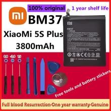 Оригинальный аккумулятор для телефона Xiao Mi BM37 для Xiaomi 5S Plus Mi5S Plus, высококачественные сменные батареи для телефона 3800 мАч + Инструменты