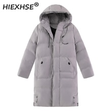 XIEXHSE Thicken Men's Brand Down Jacket with Big Real Fur Collar Warm Parka -30 Degrees Men Casual W