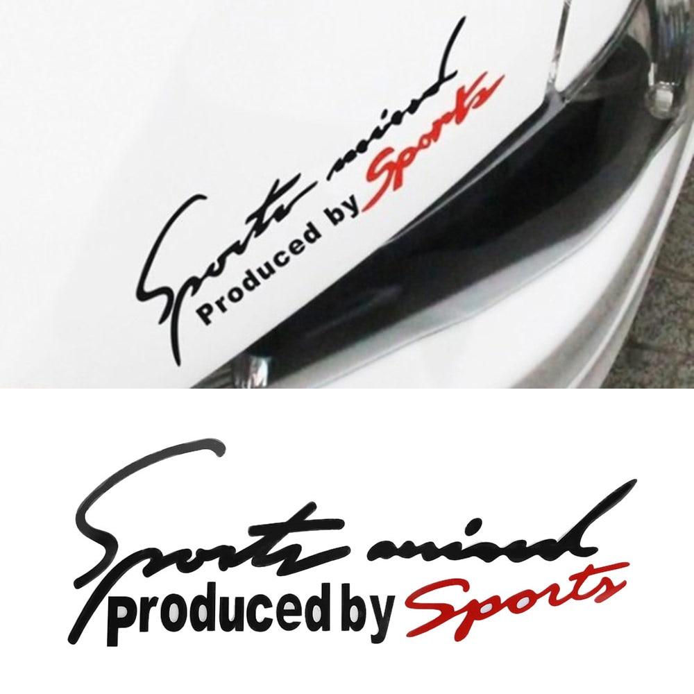 Sport Letter Car Stickers Emblem Badge Decal Auto Automobile Bonnet Sticker Car-styling for Audi BMW