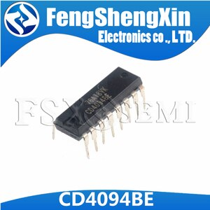 100pcs/lot  CD4094BE DIP-16 CD4094 CMOS 8-Stage Shift-and-Store Nus Register IC