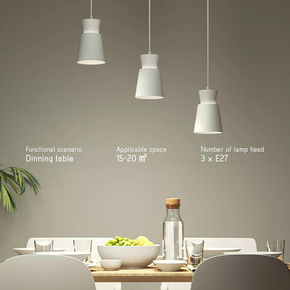 Yee светильник с тремя головками E27 обеденные настольные Подвески светильник AC220-240V люстра лампа с регулируемой высотой Голосовое управление столовая кофейная комната