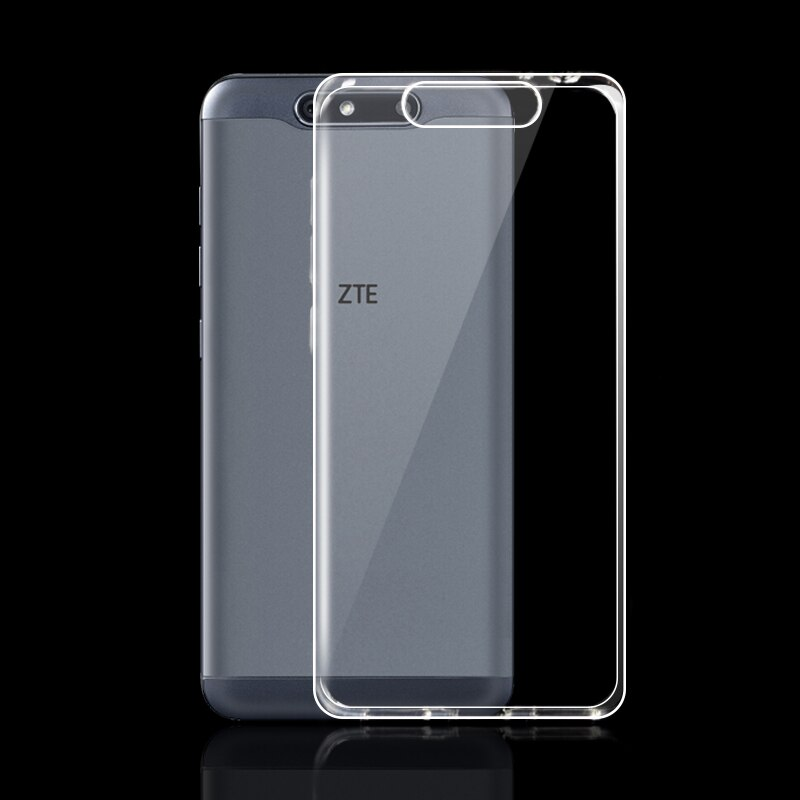 Tpu macio caso para zte lâmina v8 telefone celular claro silicone protetor para zte a2017 cristal volta capa caso corpo inteiro capa coque