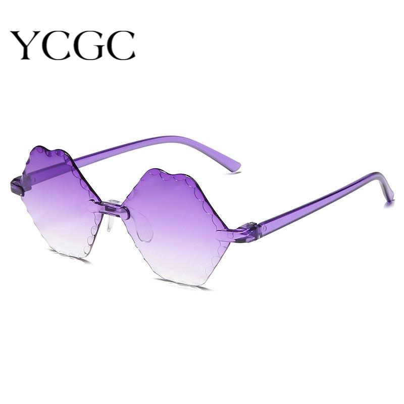 Small Frame Sunglasses Women Retro Lips Mirror Plastic Sun Glasses Female Vintage Brand Designer Lun
