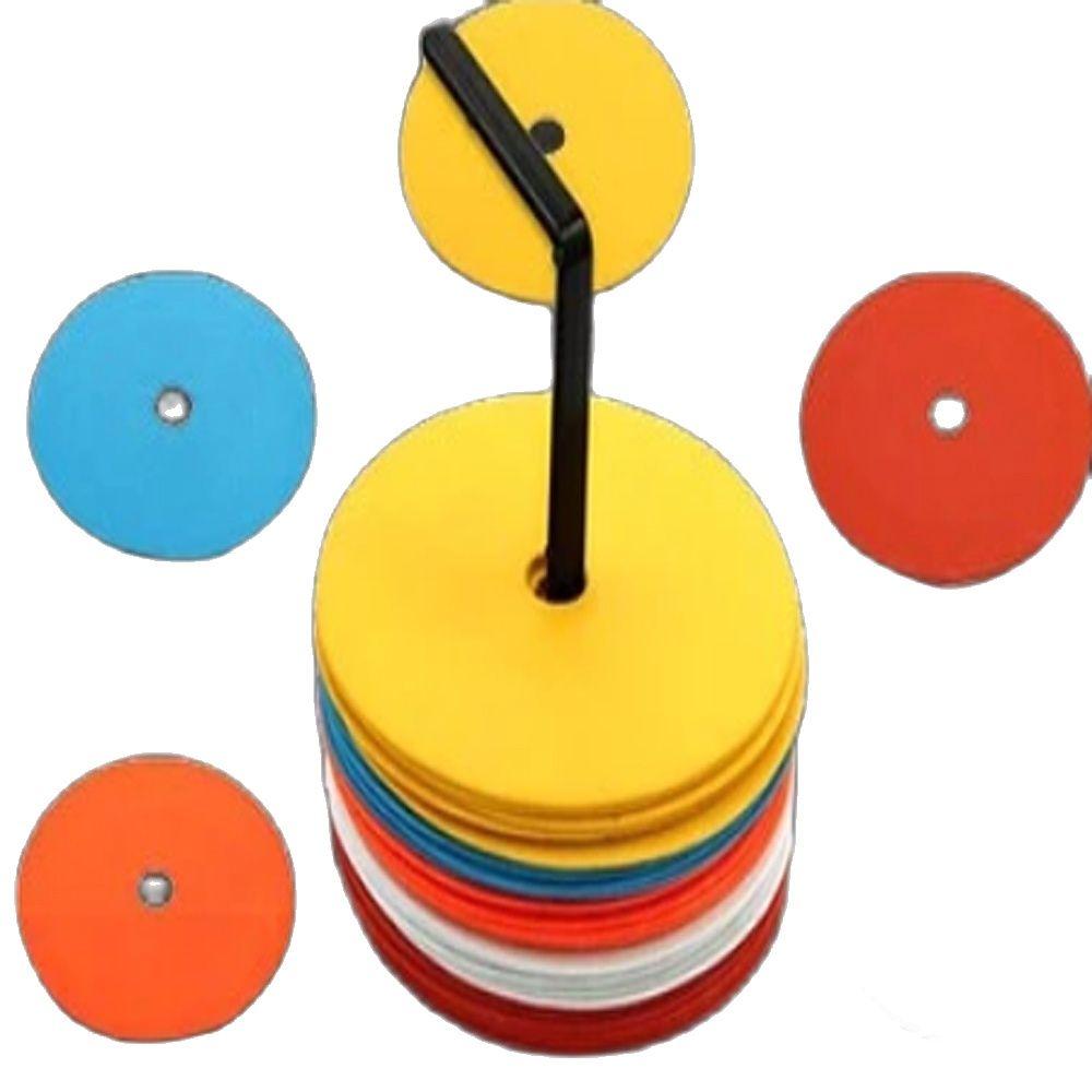 Оптовая продажа с фабрики, высокое качество, 15,5 см, плоские конусы из ТПЭ, футбольные конусы, пластиковые маркерные дисковые конусы, труба