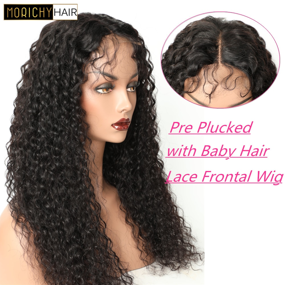 Morichy Kinky Curly 13x4 Lace Front Wig Malaysian Human Hair Curly Lace Frontal Wigs 150% Density Pre-Plucked Lace Closure Wig