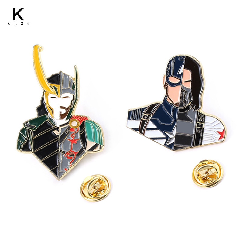 Эмалированные Броши Булавки на лацкан с эмблемой «мстители», «Тор», «Локи», «Молот», «Человек-паук», «Бэтмен», для мужчин и женщин