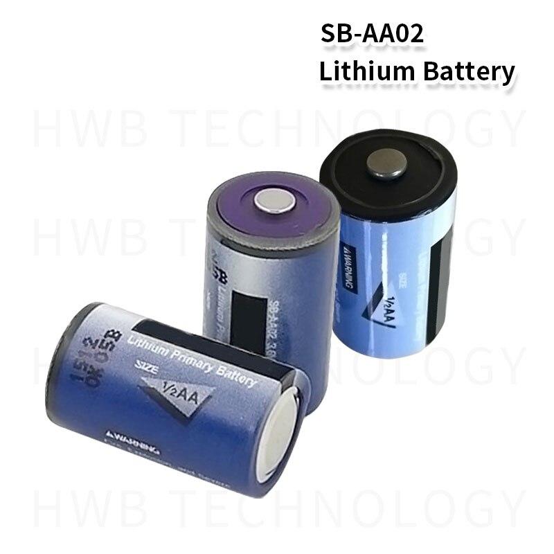 12x novo quente tekcell SB-AA02 3.6v 1/2aa ls14250 er14250 plc bateria de lítio/SB-AA02 bateria de backup frete grátis