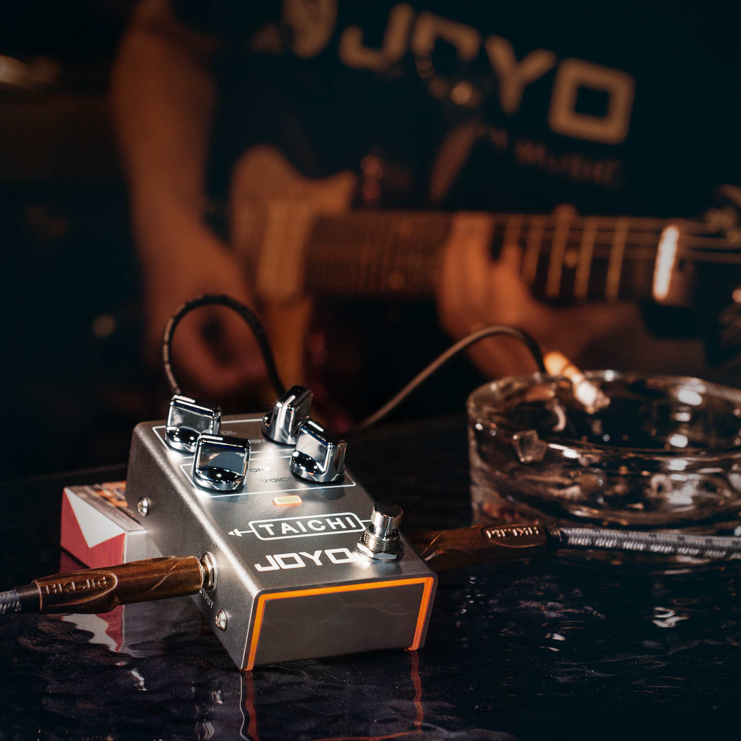 JOYO R-02 TAICHI Overdrive Pedal For Electric Guitar Low Gain Overdrive Pedal Effect Overload Tremolo Effector Musical Sound enlarge