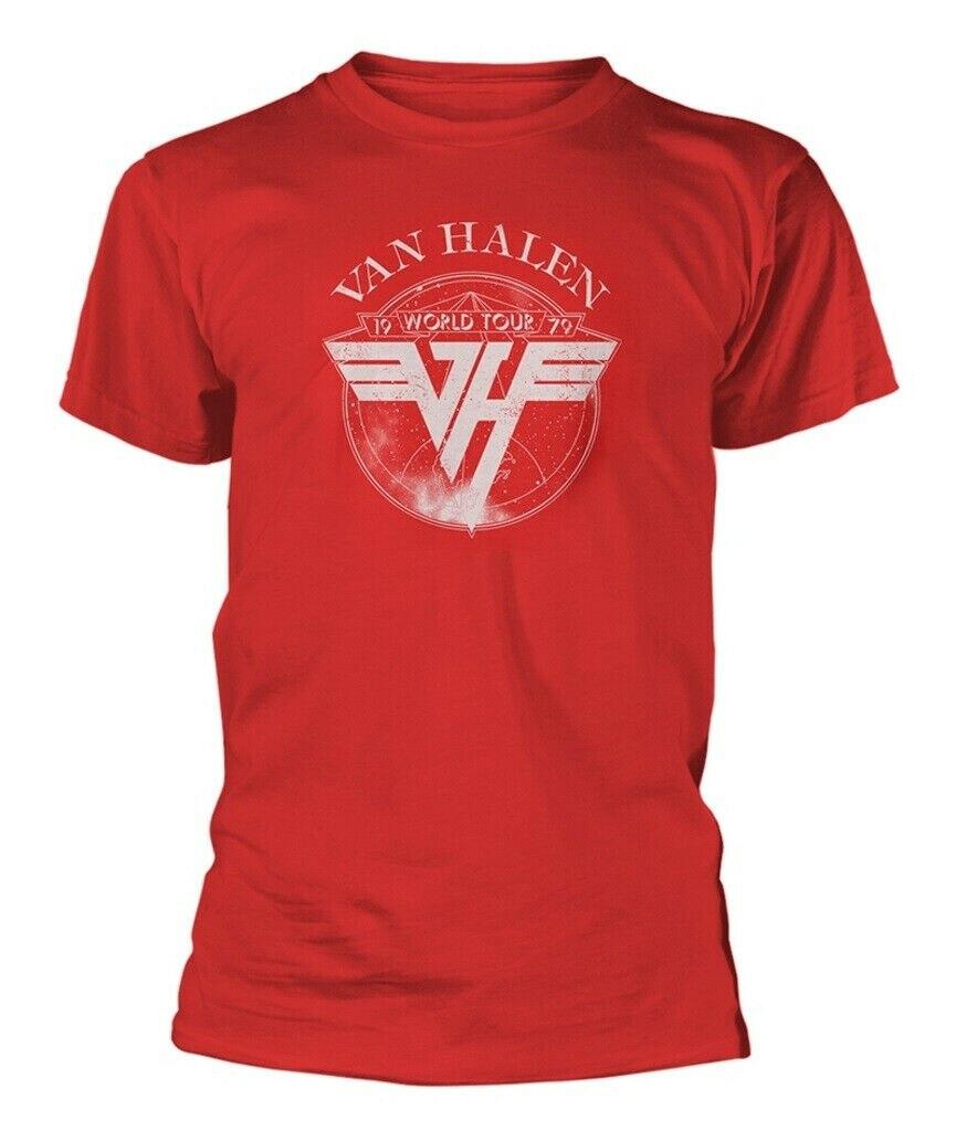 Camiseta roja de la gira de Van Halen 1979, nuevo oficial
