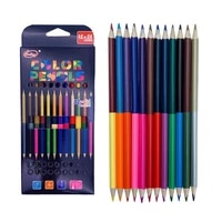 12pcsset two color head oily colored pencils drawing sketch art paint wood pencil comic graffiti tool triangle bar 24 colors