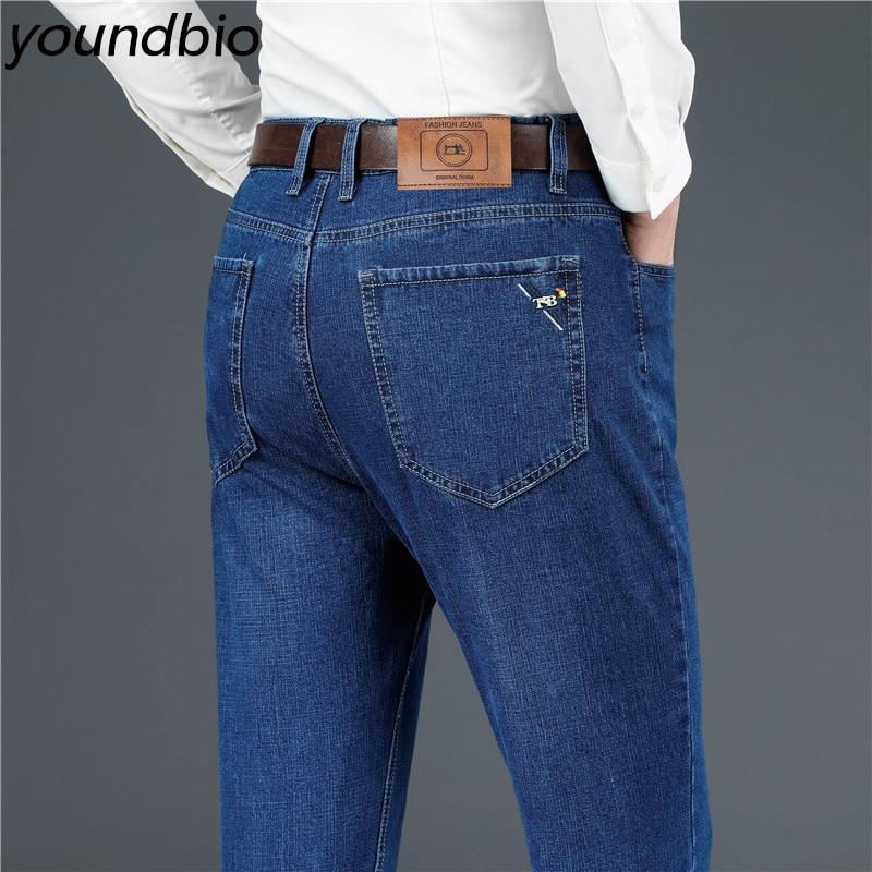 Men's Jeans Business Casual Fashion Stretch Jeans Classic Men Denim Pants Man Work Trousers Men Pants Size 29-40 3 Colors