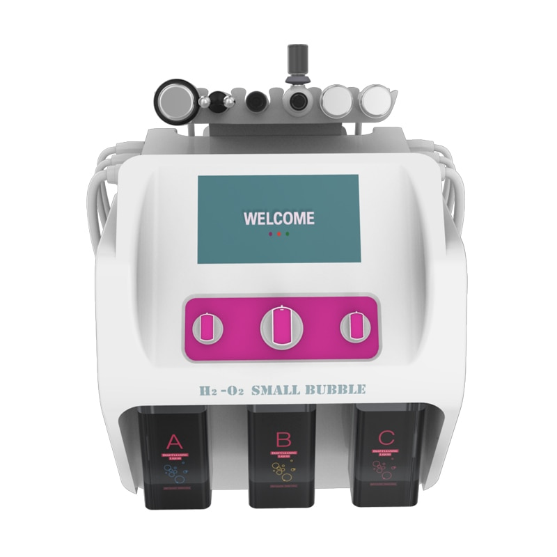 H2o2 Hydro gen Oxygen Small Bubble Facial hydrafacial Machine Hydra Peeling Face Lift Deep Cleaning Care Microdermabrasion