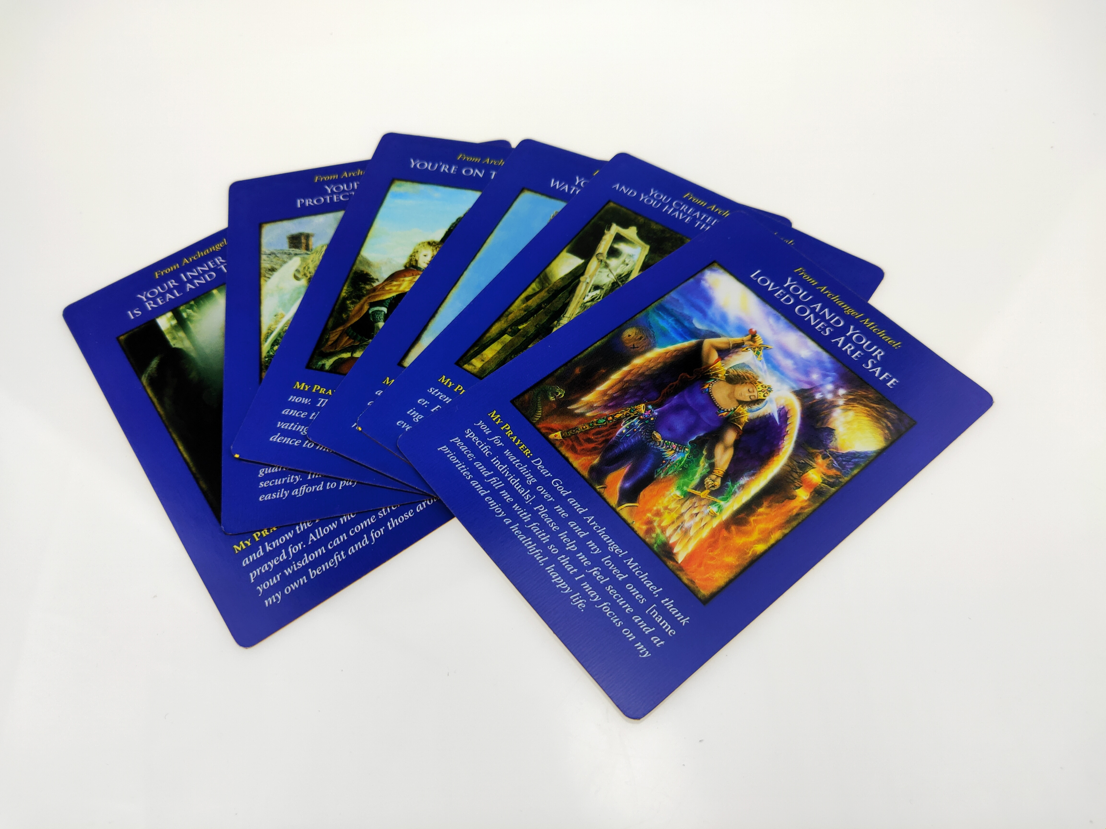 44pc arcanjo michael oracle cartões baralho tarô cartões festa durável jogo revestido cartão papel jogando cartão jogos de tabuleiro entretenimento