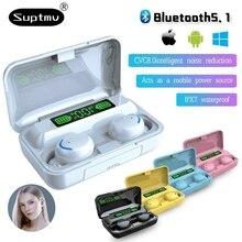 TWS Bluetooth 5.0 Earphones Smart Digital Display Wireless Headphone 9DStereo Sports Waterproof Earb