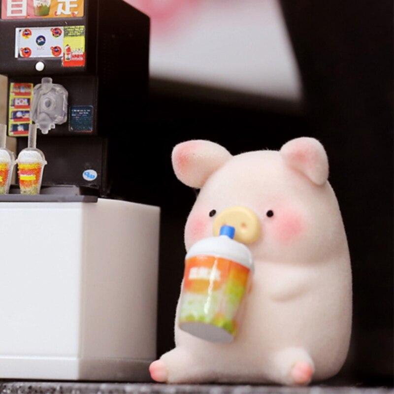 Pig Trend Kid Doll lulu Pig Convenience Store Canned Food Birthday Gift Computer Desktop Decoration Kawaii Toy Blind Random Box