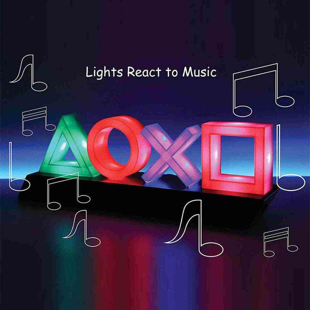 Voice Control Game Icon Light Acrylic Atmosphere Neon Dimmable USB Bar Atmosphere Lampara Club KTV Decorative Wall Decor Light