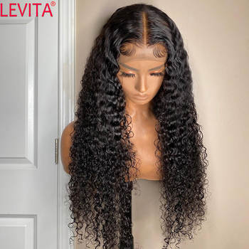 LEVITA wholesale afro kinky curly human hair wig 4×4 lace closure wig Brazilian lace front human hair Wigs for black women
