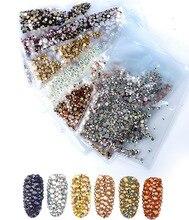 40 colors Mix Sizes Crystal Clear AB Non Hotfix Flatback Rhinestones Nail Art Rhinestones For 3D Nail Art Decoration glitter