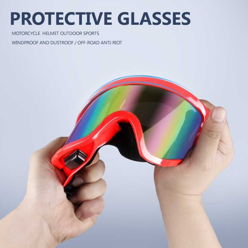 Motorcycle Helmet Goggles Outdoor Protective Glasses Motorcycle Sunglasses Goggles ATV Motocross Glasses ATV motorcycle atv riding scooter driving flying protective frame clear lens portable vintage helmet goggles glasses for 2009 buell xb12r