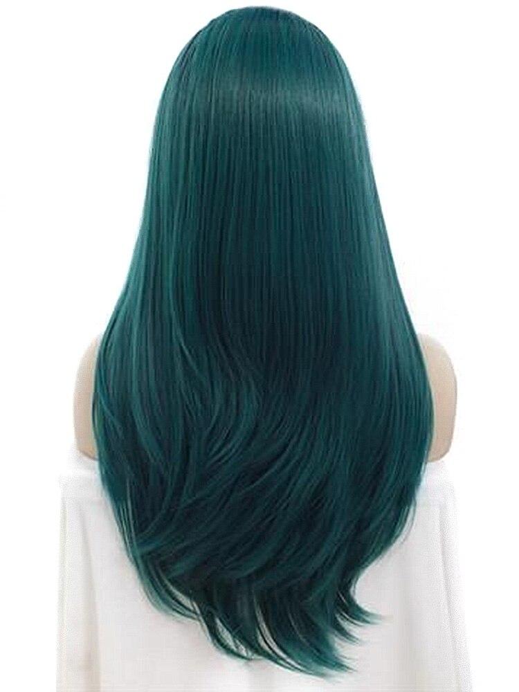 AIYEE 22 Peluca de pelo verde Afro sintético rojo Rubio Peluca de pelo falso resistente al calor Multi libertad pelucas con flequillo para mujeres