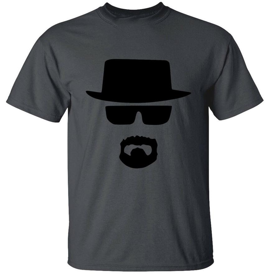 Heisenberg cara Mens T camisa culto romper parodia mal regalo superior al por mayor camiseta