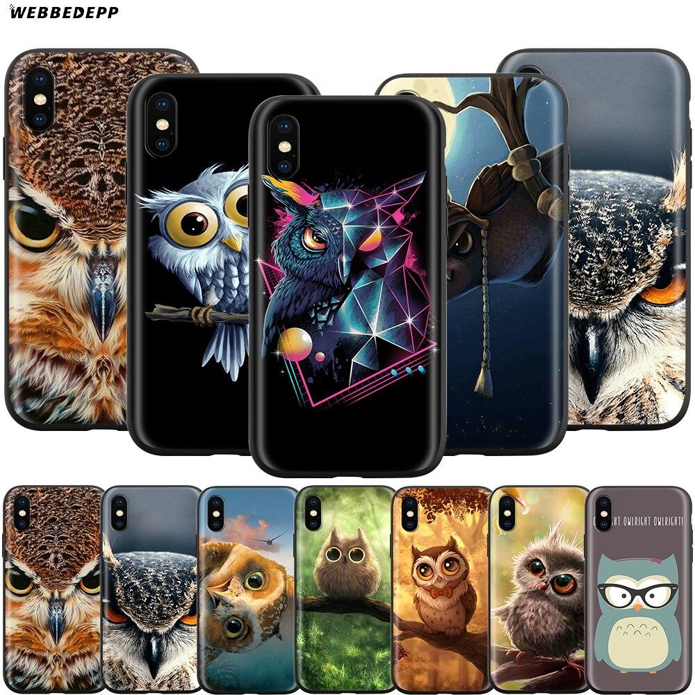 Webbedepp coruja animal caso para apple iphone 12 mini 11 pro xs max xr x 8 7 6s plus 5 5S se