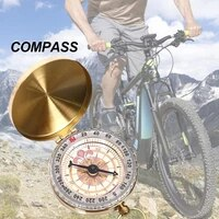 pocket compass clear scales glow in dark for camping pusula boussole bussola compass compas matraque defense spovan barometer