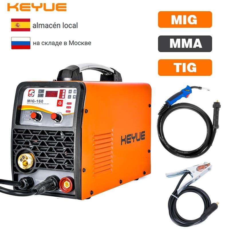 KEYUE MIG-200 DC 220V 5 كجم سلك الغاز لا الغاز الذاتي محمية العاكس لحام MIG TIG ARC لحام