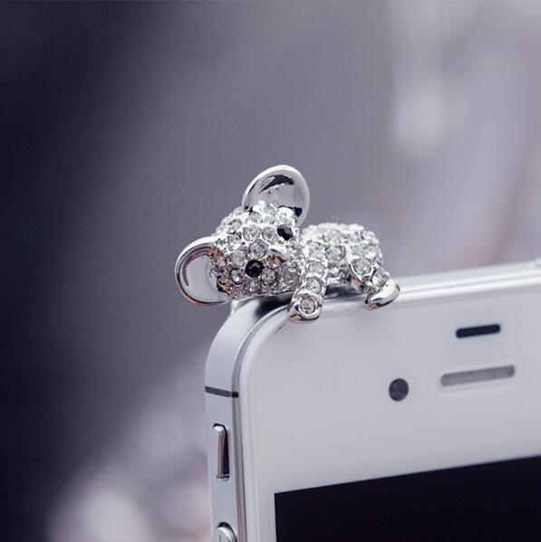 Модные Стиль милый коала дизайн Мобильный телефон ушной пинцет-Пылезащитная заглушка для смартфонов милые аксессуары для мобильных телефонов-0
