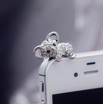 Модные Стиль милый коала дизайн Мобильный телефон ушной пинцет-Пылезащитная заглушка для смартфонов милые аксессуары для мобильных телефонов