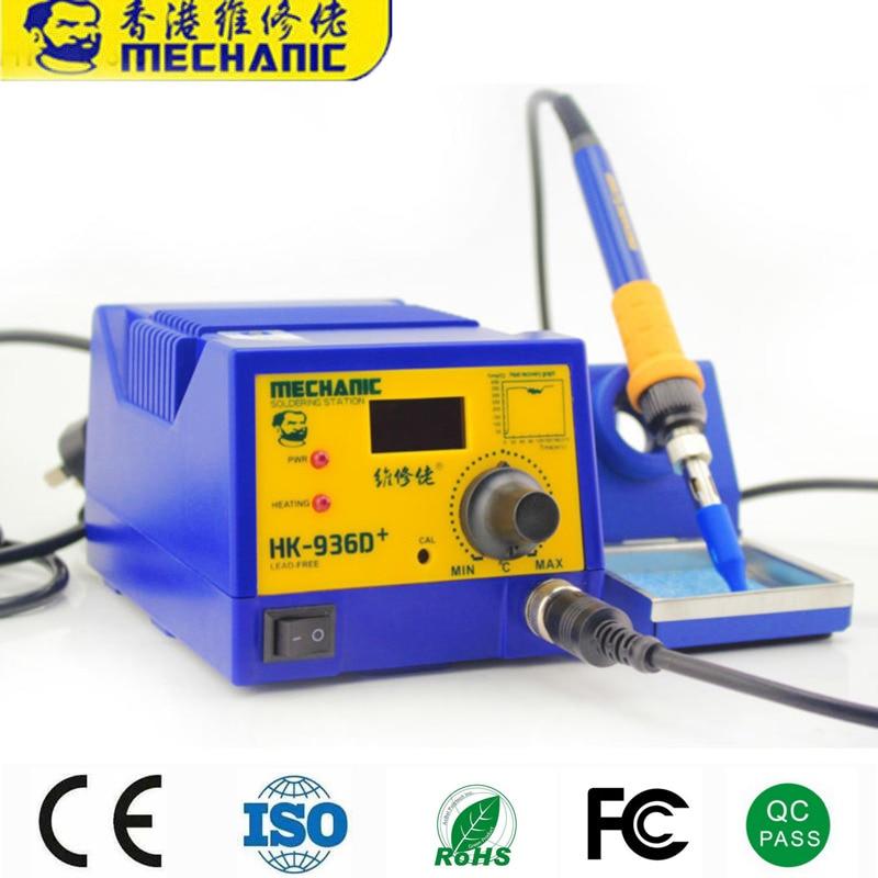 12 Sets MECHANIC HK-936D+ Soldering Station Constant Temperature Controller Digital Display Electric Welding Tool Sets