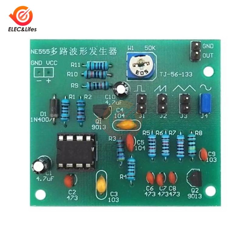 DC 6-12V NE555 Pulse Generator Module Sine/Triangle/Square Wave generator multi-channel Waveform Signal Generator DIY Kit