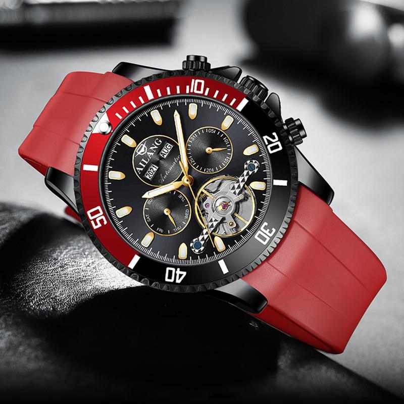 Ailang genuine multi-function men's watch hollow mechanical watch automatic luminous waterproof tide brand men's watch