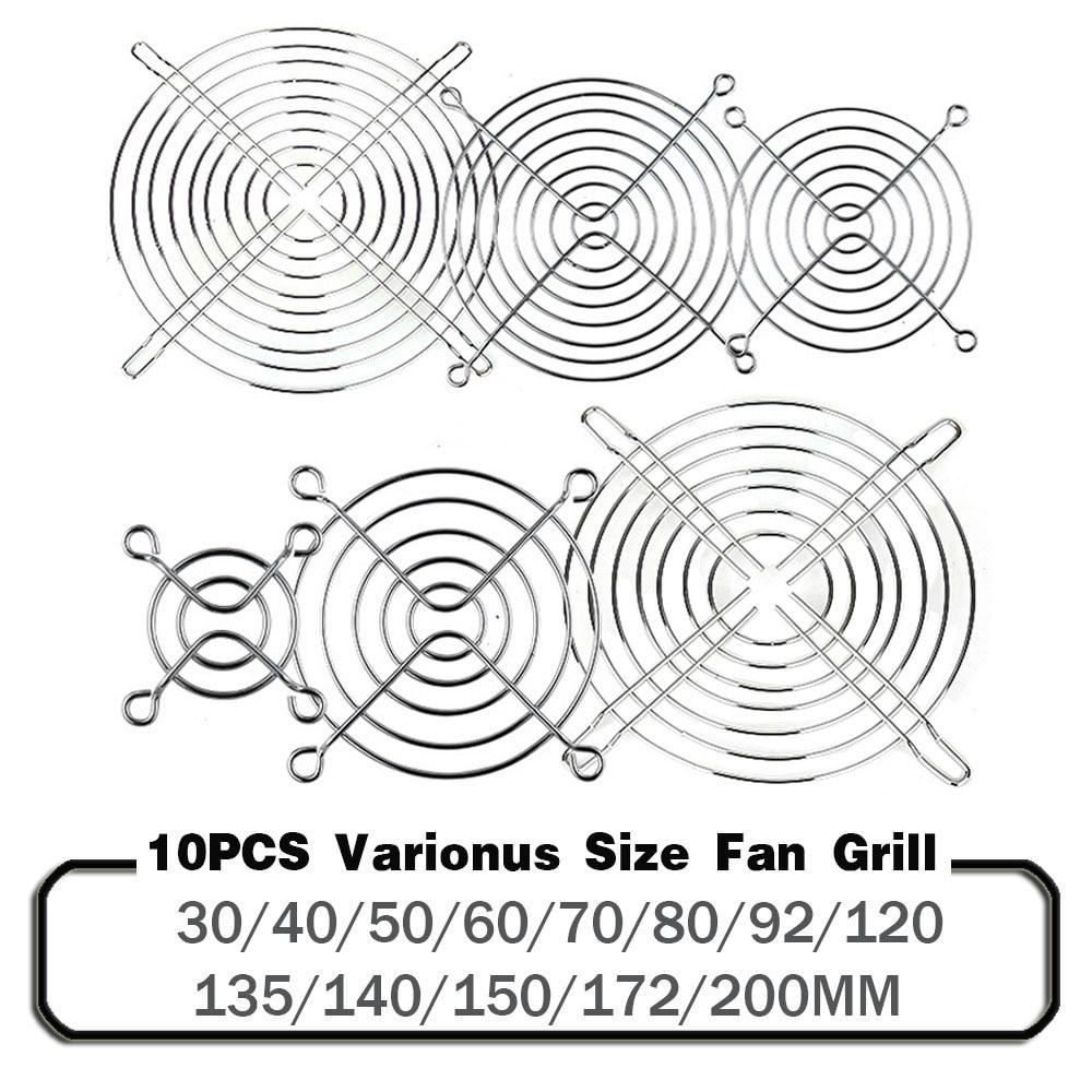 10PCS Cooling Fan Guard Metal Grill Computer Fan Grill Cover 30mm 40mm 50mm 60mm 70mm 80mm 90mm 120mm 135mm 140mm 170mm 200mm