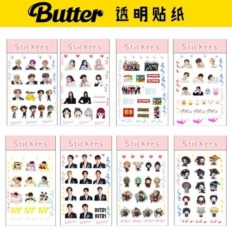 KPOP Bangtan Boys BP NCT Stray Kids The Same Ribbon Transparent Sticker